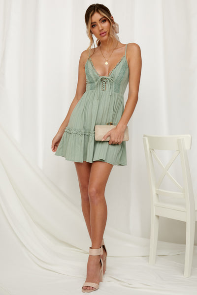 Deep Desert Dress Sage