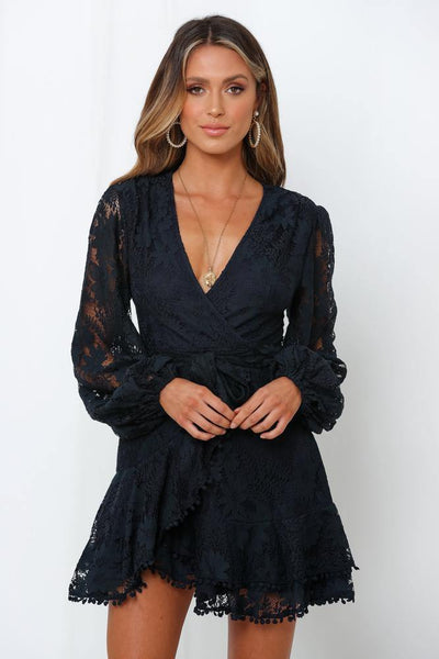 Elevated Angels Dress Navy