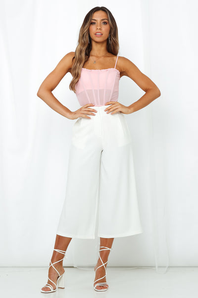 Slip Away Culottes White
