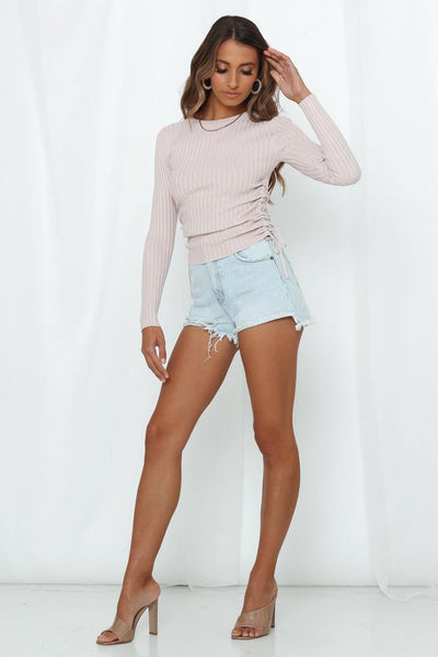 Ronda Knit Top Nude