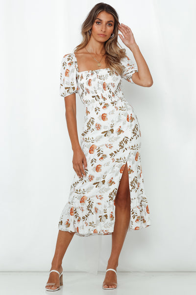 Die For Your Love Midi Dress White