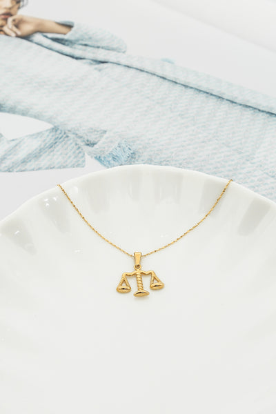 Libran Trait Necklace Gold