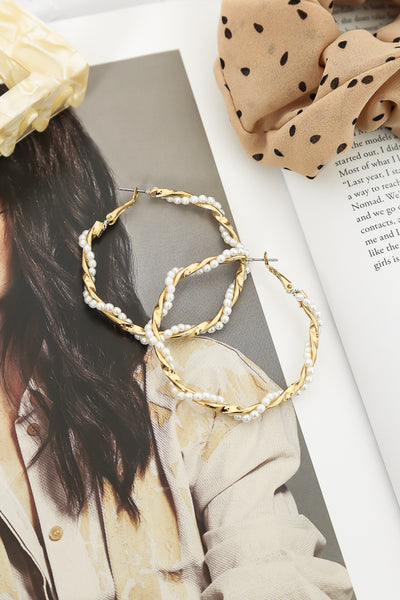 Twisted Words Hoops Gold | Hello Molly