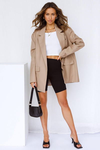 LIONESS Welcome To The Jungle Blazer Beige