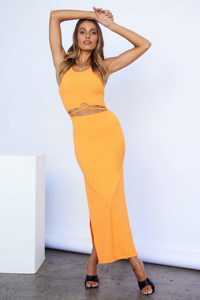 Up Early Maxi Dress Bright Orange