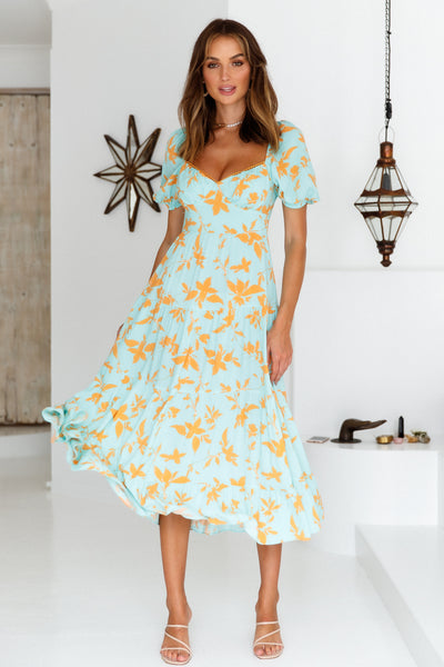 Everything I Dreamed Of Midi Dress Turquoise