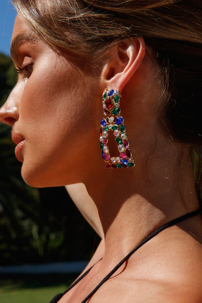 Queen Of Colour Earrings Multi