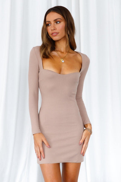 In And Out Dress Brown