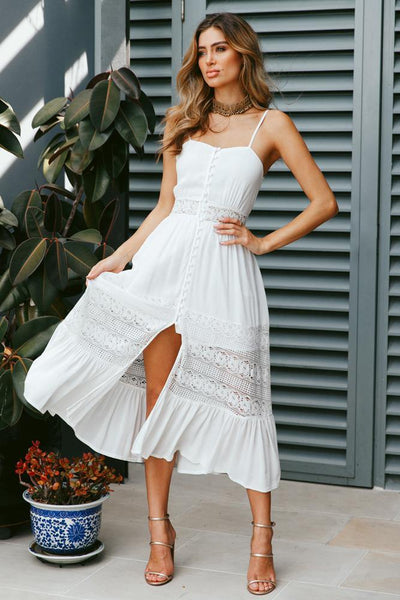 Summer In Monte Carlo Maxi Dress White