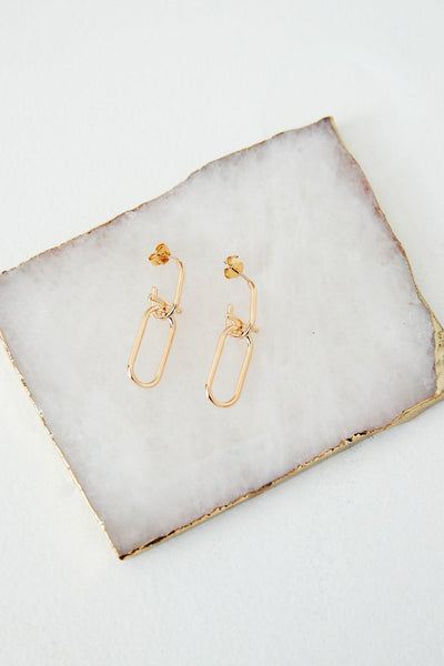 Staple Bling Earrings Gold | Hello Molly