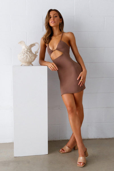 Bar Hopper Dress Brown