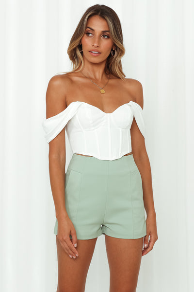 This Magic Moment Crop Top White