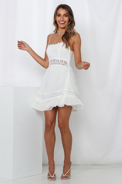 Shady Ladies Dress White