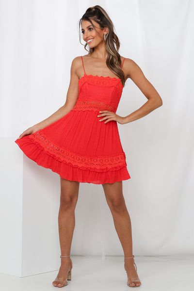 Shady Ladies Dress Red