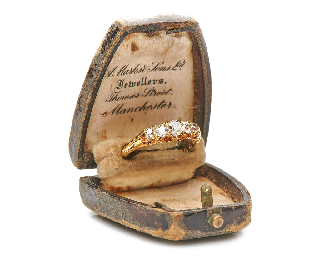Antique Victorian, 18ct Gold, Diamond Five Stone Engagement Ring