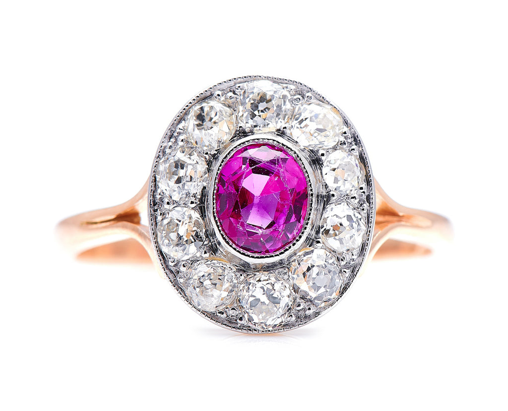Art Deco, 18ct Gold and Platinum, Ruby and Diamond Ring