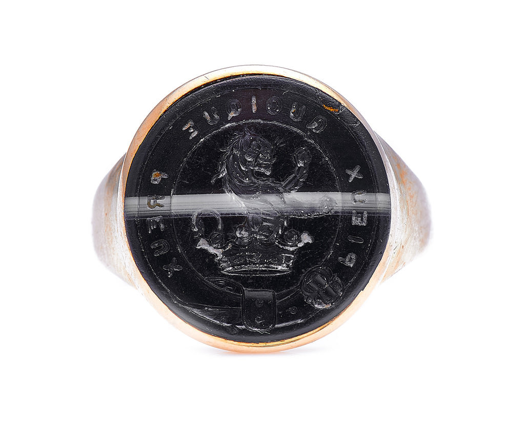 Georgian, 18ct Gold, Onyx Intaglio Ring