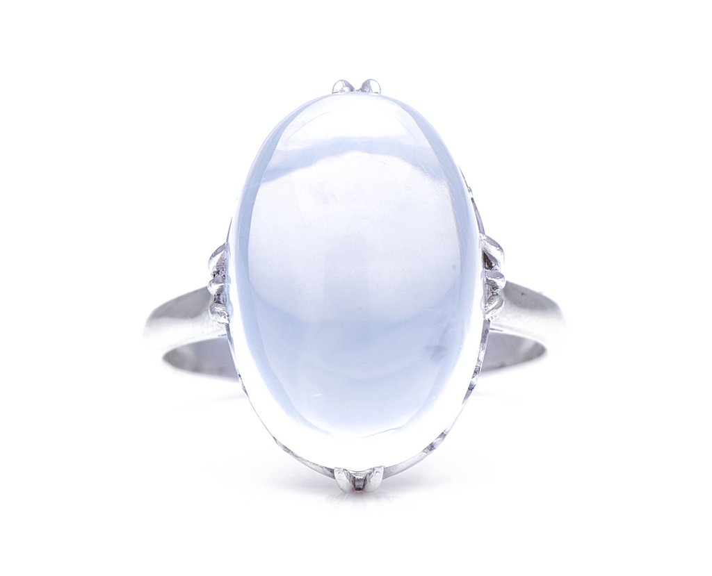 Mid-Century, 1950's, 18ct White Gold, Moonstone Ring