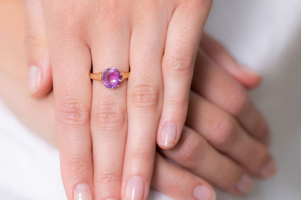 Victorian, 15ct Gold, Pink Sapphire Ring