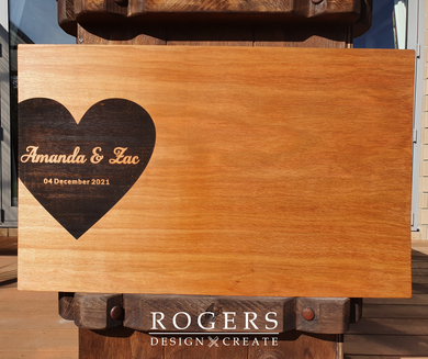 Hardwood Guest Book/Board - From $30