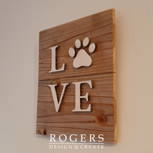 "Load image into Gallery viewer, Wall Art - ""Paw Love"""