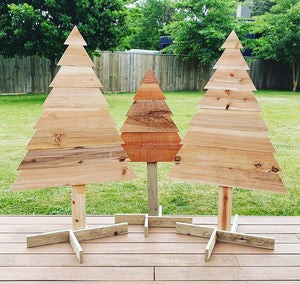 IN STOCK:  Wooden Christmas Trees