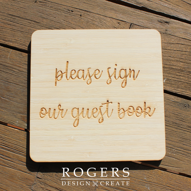 IN STOCK:  Guest Book Sign