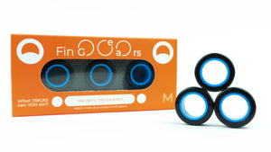 MAGNETIC RINGS. Black-Blue. Size M