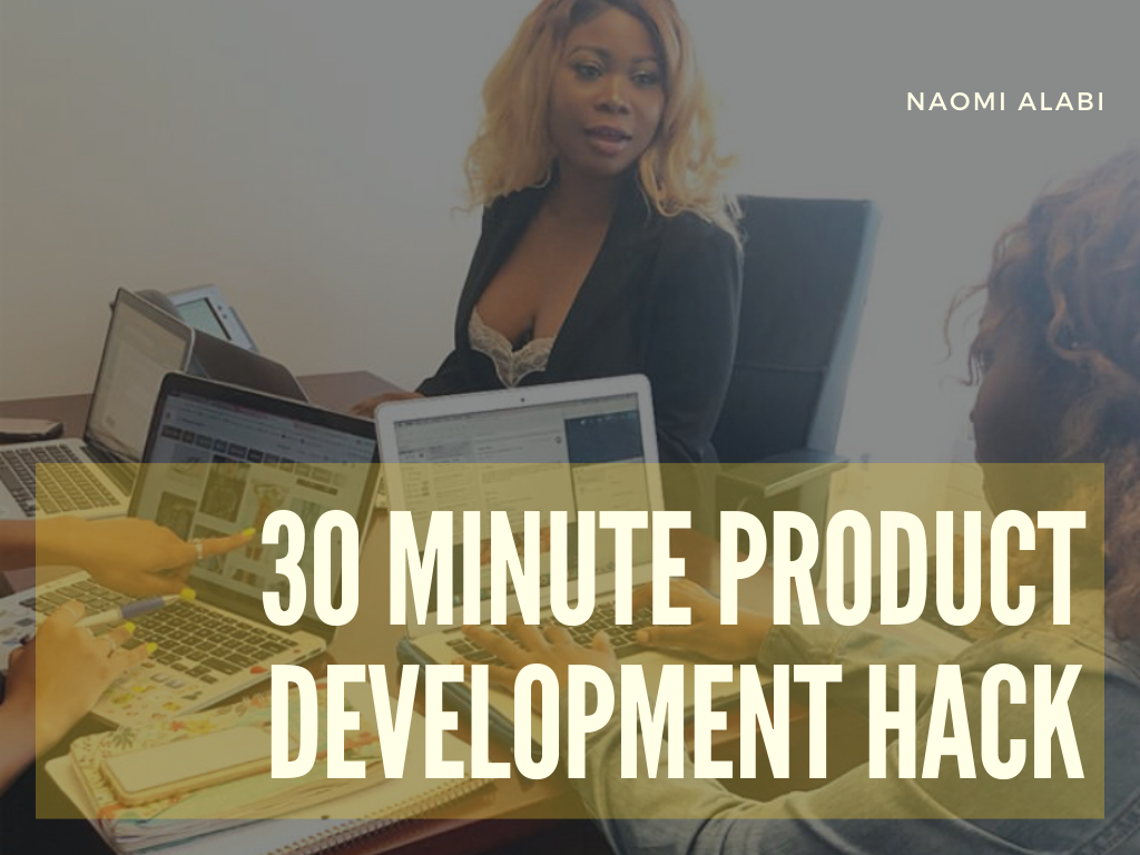 30 minute Product Development Course