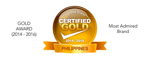 Most Admired Brand: Gold Award 2014-16