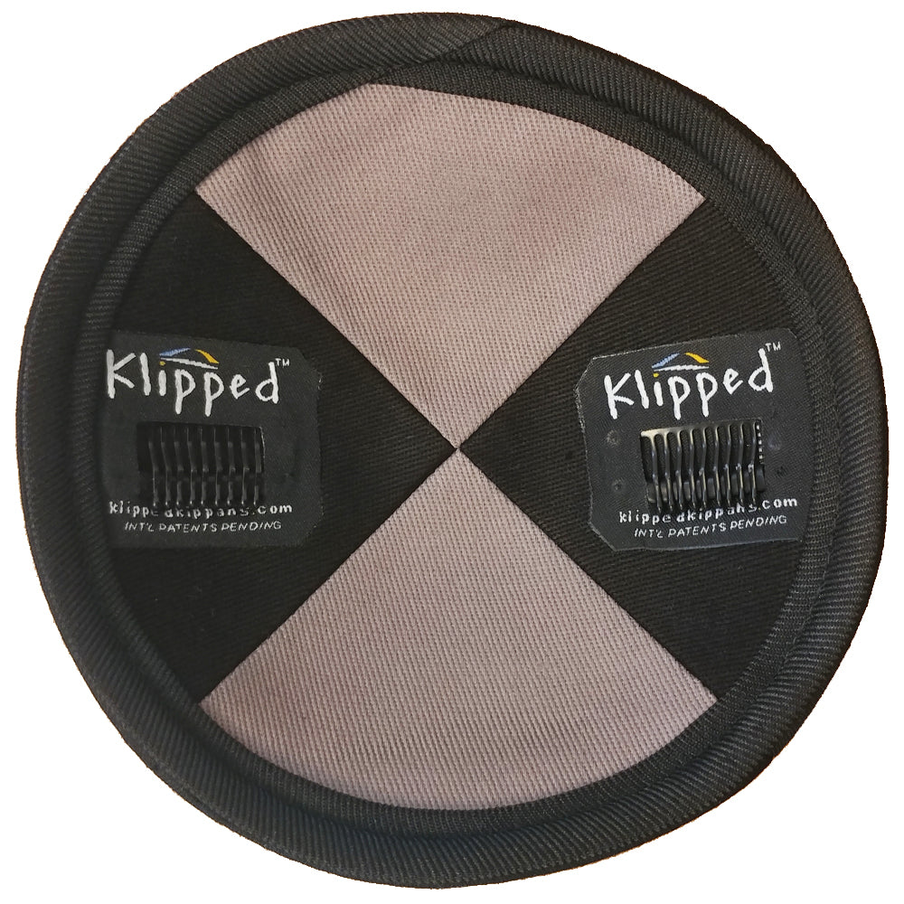 Inside Gray Burlap with Rim Kippah | Klipped Kippahs