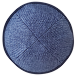 Blue Burlap with Rim
