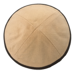 Beige Corduroy with Brown Rim