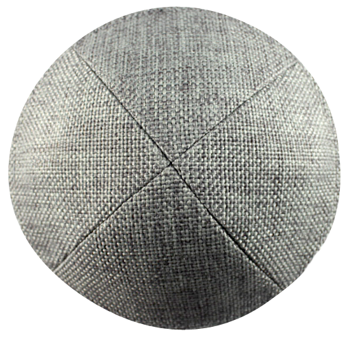 Gray Burlap Kippah with Clip | Kippah & Yarmulks | Klipped Kippahs