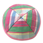 Pastel Plaid Kippah with Clips | Kippahs & Yarmulkes | Klipped Kippahs