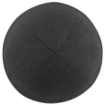 Black Linen with Rim Clip Kippah | Kippah & Yarmulks | Klipped Kippahs