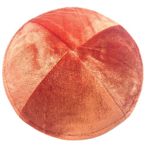 Crushed Velvet Orange Kippah | Kippahs & Yarmulkes | Klipped Kippahs