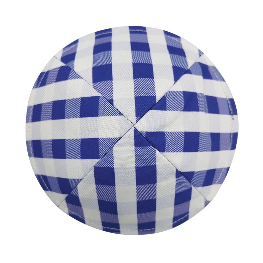 Purple Plaid Kippah with Clip | Kippah & Yarmulkes | Klipped Kippahs