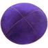 Purple Suede Kippah with Clips | Kippahs & Yarmulkes | Klipped Kippahs