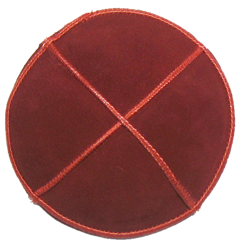 Red Orange Suede Kippah | Kippahs & Yarmulkes | Klipped Kippahs