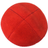 Red Suede Kippah with Clips | Kippahs & Yarmulkes | Klipped Kippahs