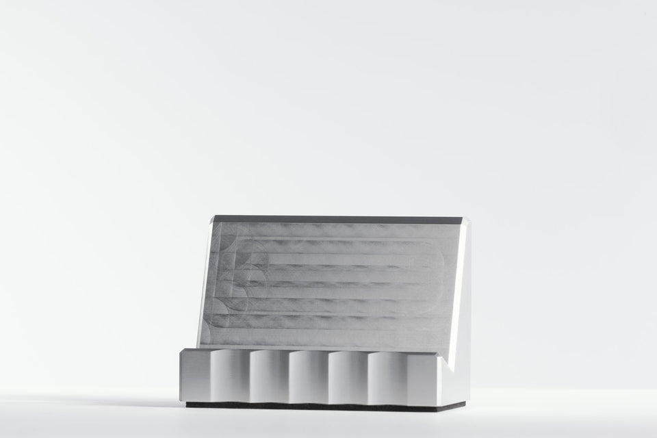 silver business card holders