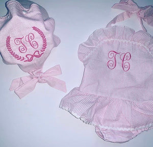 Personalised Baby Bonnett