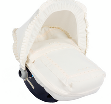 Load image into Gallery viewer, Cream Carla car seat set
