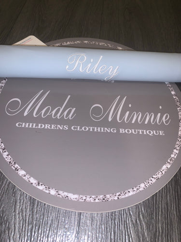 Blue Personalised Pram Bar