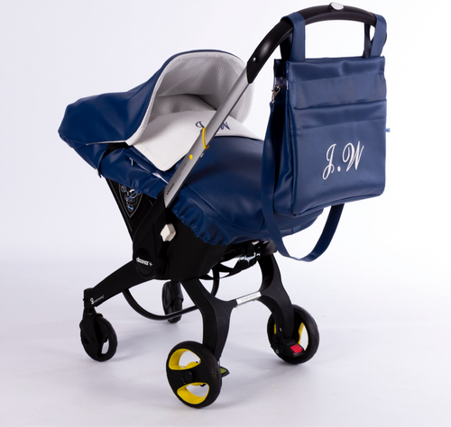 Navy Pompas Car Seat Set