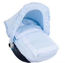 Load image into Gallery viewer, Blue Carla car seat set