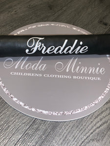 Black Personalised Pram Bar