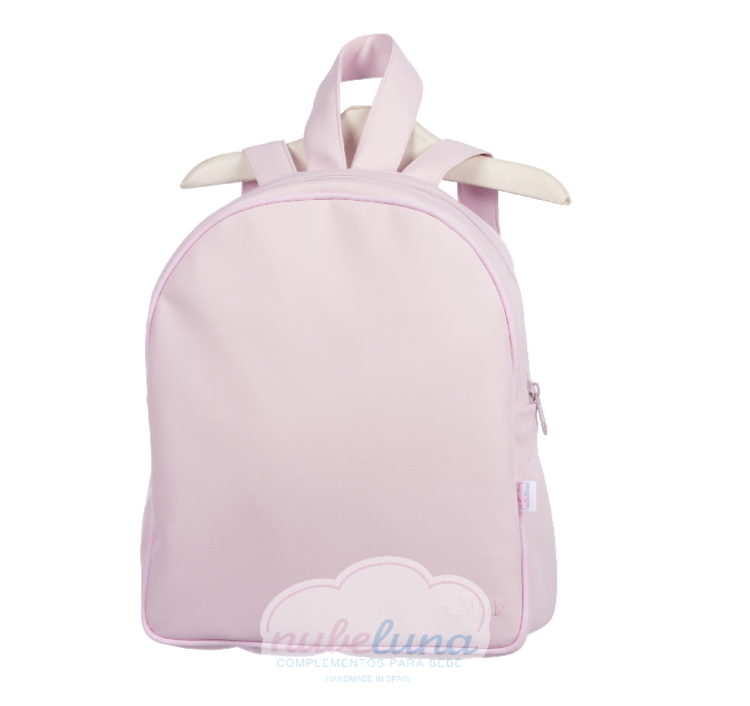 Pink leather Rucksack
