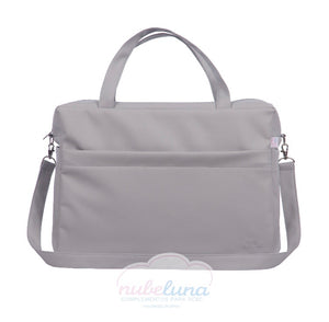 Grey Leatherette Maternity bag